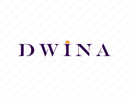 Dwina logo design included with business name and domain name, Dwina.com.