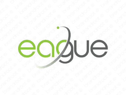 Eague logo design included with business name and domain name, Eague.com.