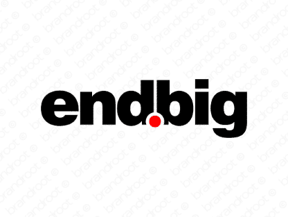 Endbig logo design included with business name and domain name, Endbig.com.