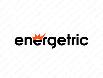 Energetric logo design included with business name and domain name, Energetric.com.
