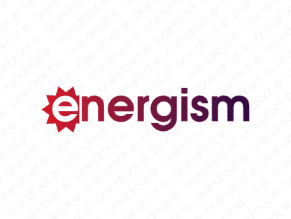 Energism logo design included with business name and domain name, Energism.com.
