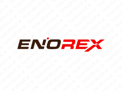Enorex logo design included with business name and domain name, Enorex.com.