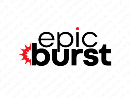 Epicburst logo design included with business name and domain name, Epicburst.com.