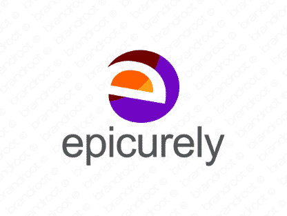 Epicurely logo design included with business name and domain name, Epicurely.com.