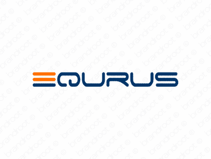 Equrus logo design included with business name and domain name, Equrus.com.