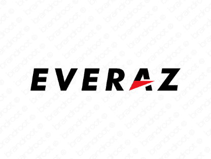 Everaz logo design included with business name and domain name, Everaz.com.