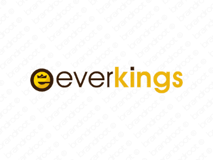 Everkings logo design included with business name and domain name, Everkings.com.
