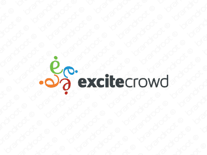 Excitecrowd logo design included with business name and domain name, Excitecrowd.com.