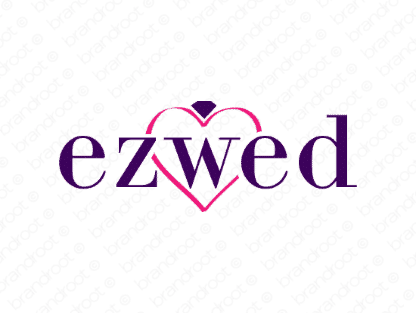 Ezwed logo design included with business name and domain name, Ezwed.com.