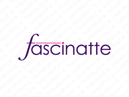 Fascinatte logo design included with business name and domain name, Fascinatte.com.
