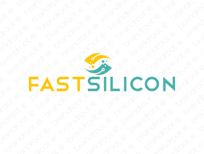 Fastsilicon logo design included with business name and domain name, Fastsilicon.com.