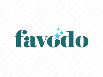 Favodo logo design included with business name and domain name, Favodo.com.