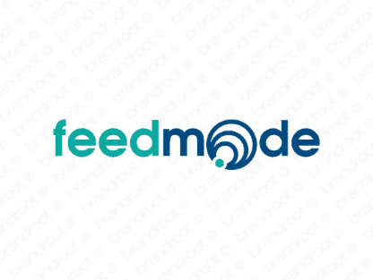Feedmode logo design included with business name and domain name, Feedmode.com.