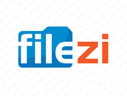 Filezi logo design included with business name and domain name, Filezi.com.