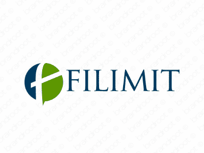 Filimit logo design included with business name and domain name, Filimit.com.