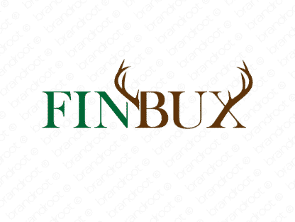 Finbux logo design included with business name and domain name, Finbux.com.