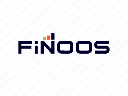 Finoos logo design included with business name and domain name, Finoos.com.