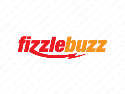 Fizzlebuzz logo design included with business name and domain name, Fizzlebuzz.com.