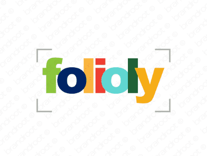 Folioly logo design included with business name and domain name, Folioly.com.