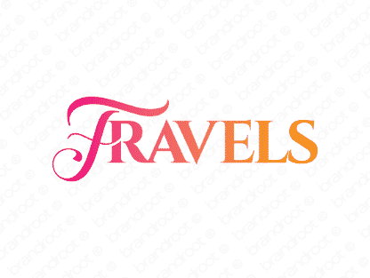 Fravels logo design included with business name and domain name, Fravels.com.