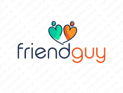 Friendguy logo design included with business name and domain name, Friendguy.com.