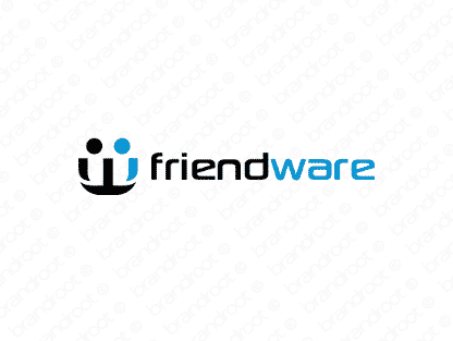 Friendware logo design included with business name and domain name, Friendware.com.