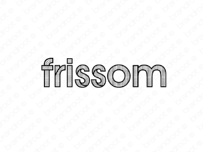Frissom logo design included with business name and domain name, Frissom.com.