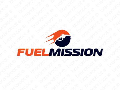 Fuelmission logo design included with business name and domain name, Fuelmission.com.