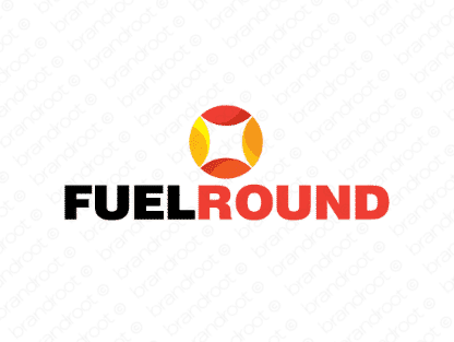 Fuelround logo design included with business name and domain name, Fuelround.com.