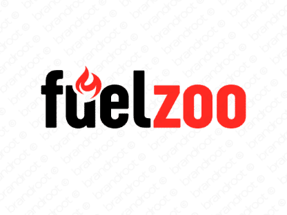 Fuelzoo logo design included with business name and domain name, Fuelzoo.com.