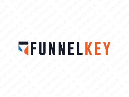 Funnelkey logo design included with business name and domain name, Funnelkey.com.