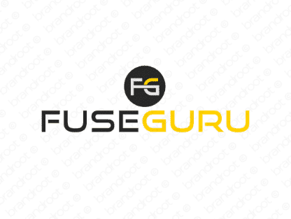 Fuseguru logo design included with business name and domain name, Fuseguru.com.