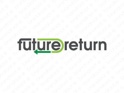 Futurereturn logo design included with business name and domain name, Futurereturn.com.