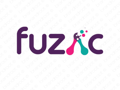 Fuzac logo design included with business name and domain name, Fuzac.com.