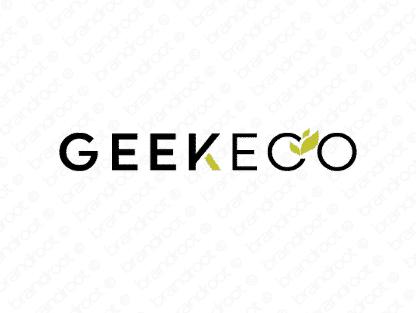 Geekeco logo design included with business name and domain name, Geekeco.com.