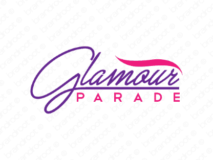 Glamourparade logo design included with business name and domain name, Glamourparade.com.