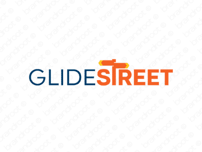 Glidestreet logo design included with business name and domain name, Glidestreet.com.