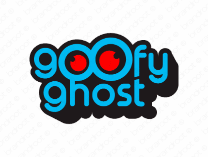 Goofyghost.com, logo design included with business name and domain name, Goofyghost.com.