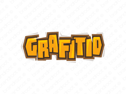 Grafitio logo design included with business name and domain name, Grafitio.com.