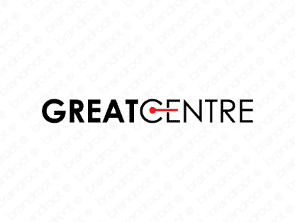Greatcentre logo design included with business name and domain name, Greatcentre.com.