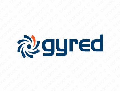 Gyred logo design included with business name and domain name, Gyred.com.