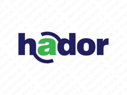 Hador logo design included with business name and domain name, Hador.com.