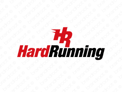 Hardrunning logo design included with business name and domain name, Hardrunning.com.
