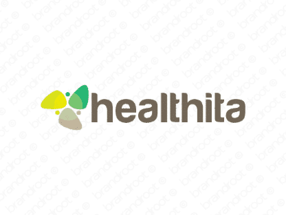 Healthita logo design included with business name and domain name, Healthita.com.
