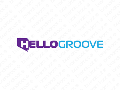 Hellogroove logo design included with business name and domain name, Hellogroove.com.