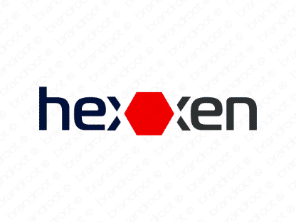 Hexxen logo design included with business name and domain name, Hexxen.com.