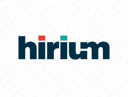 Hirium logo design included with business name and domain name, Hirium.com.