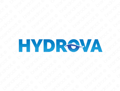 Hydrova logo design included with business name and domain name, Hydrova.com.