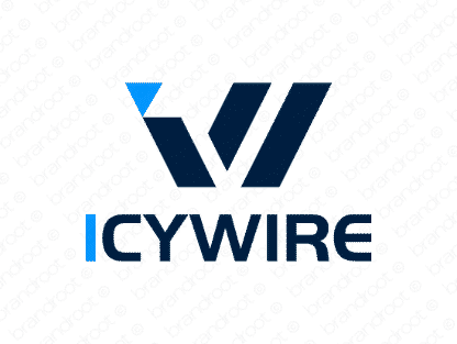 Icywire logo design included with business name and domain name, Icywire.com.