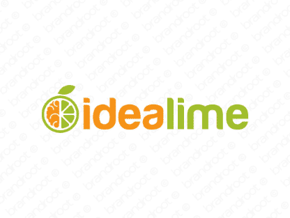 Idealime logo design included with business name and domain name, Idealime.com.